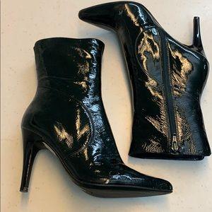 Nine West dark green patent leather boots sz. 7.5